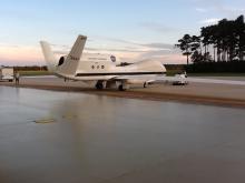 AV-6 returns to N-159 at WFF (9.20.12)