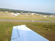 AV-6 after landing, view from T-34 chase (9.15.12)