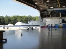 Backing into the N-159 Hangar for the first time (2012)